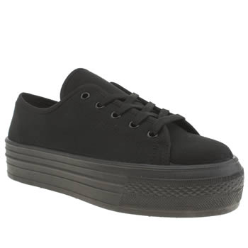 Womens Schuh Black Creep Platform Lo Flats