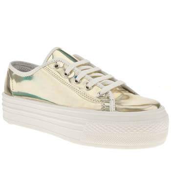 womens schuh gold creep platform lo metallic flat shoes