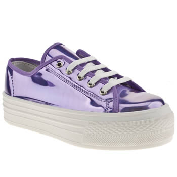 womens schuh lilac creep platform lo metallic flat shoes