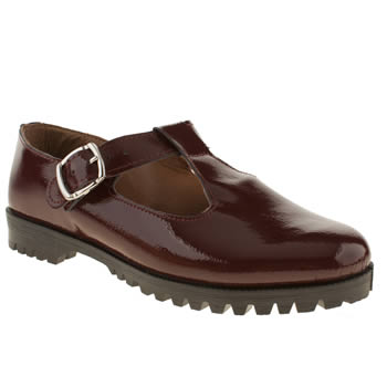 womens schuh burgundy making meadows flat shoes