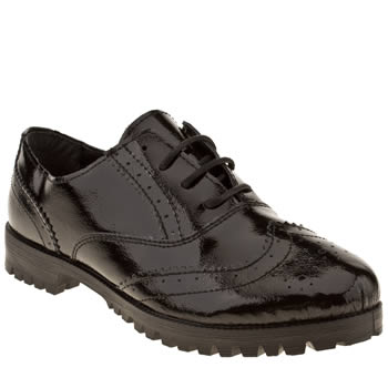 Schuh Black Pristine Brogue Womens Flats