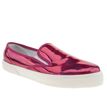womens schuh pink awesome slip on flat shoes