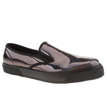 womens schuh black awesome slip on flat shoes