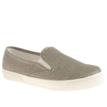 womens schuh silver awesome slip on flat shoes
