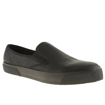 Womens Schuh Black Awesome Mono Slip On Flats