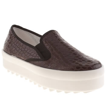 womens schuh burgundy mission flat shoes