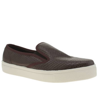 Schuh Burgundy Awesome Slip On Flats