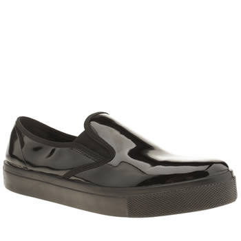 Womens Schuh Black Awesome Slip On Patent Flats