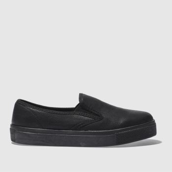 Schuh Black Awesome Slip On Mono Womens Flats