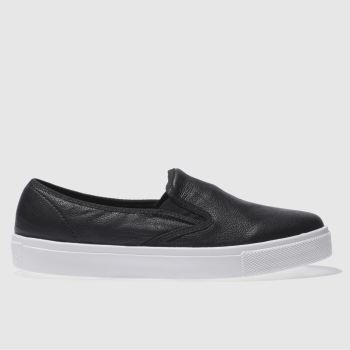 Schuh Black & White Awesome Slip On Womens Flats