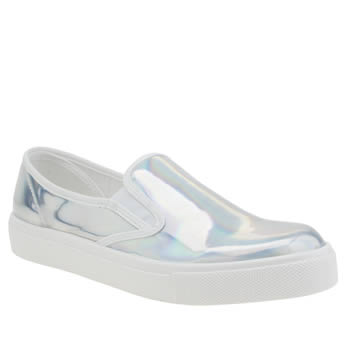 Schuh Silver Awesome Slip On Metallic Flats