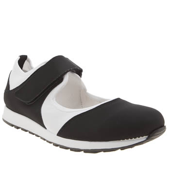 Schuh Black & White Merry Go Round Womens Trainers