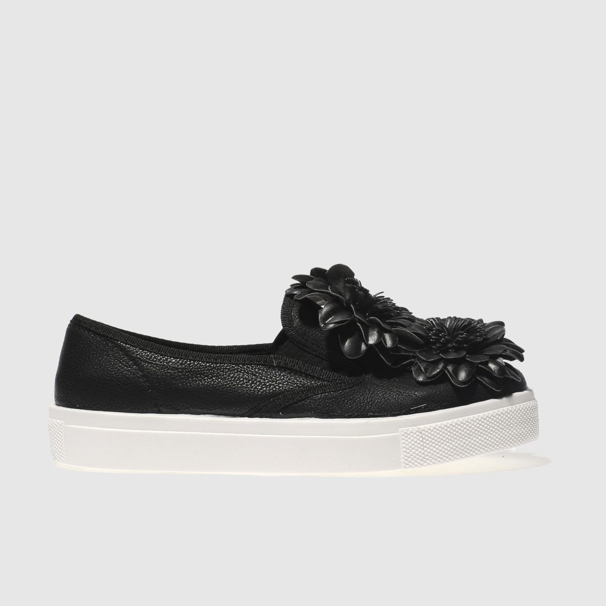 schuh Schuh Black Awesome Flowers Flat Shoes