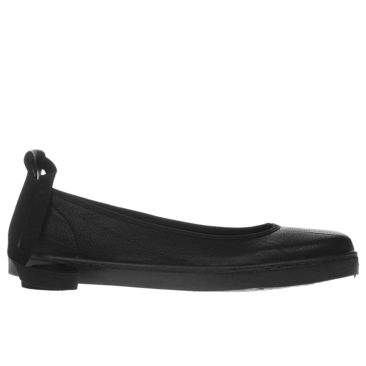 schuh black prance flat shoes