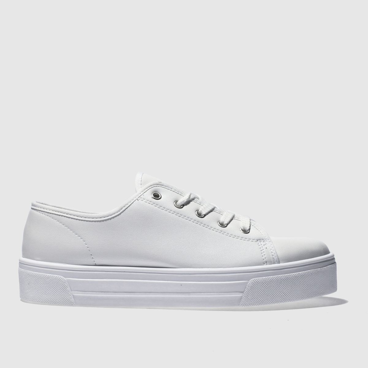Schuh White & Silver Sneaky Flat Shoes
