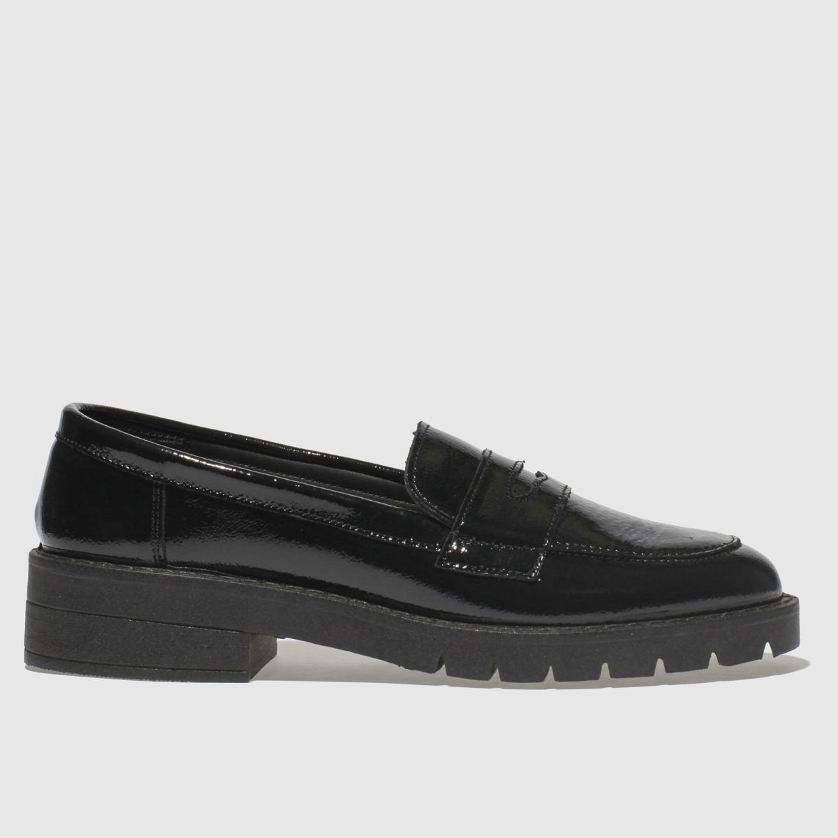 Schuh Black Chilled Flat Shoes