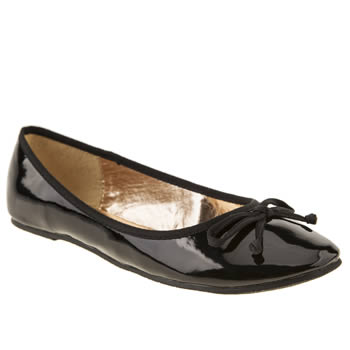 womens schuh black cherie ballerina patent flat shoes