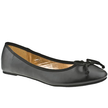 womens schuh black cherie ballerina flat shoes