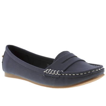 Schuh Navy Cruise Driving Mocc Ii Flats