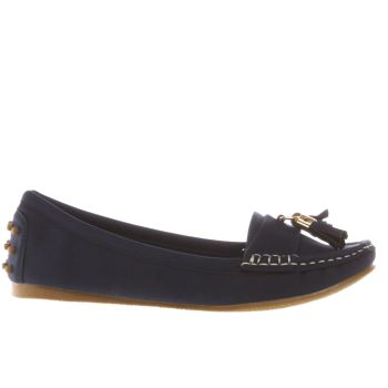 SCHUH NAVY REGATTA FLAT SHOES