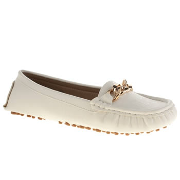 Womens Schuh White Voyage Flats