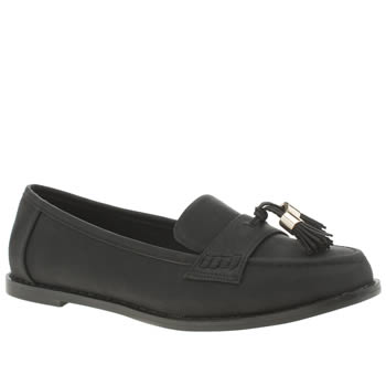 SCHUH BLACK HOST FLAT SHOES
