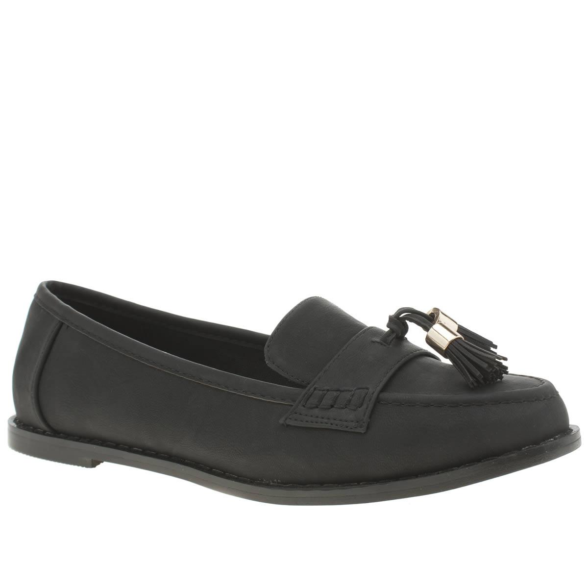 schuh black host flat shoes