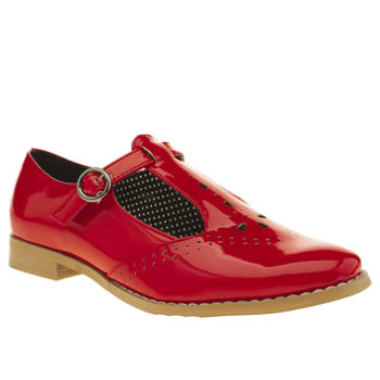 Womens Schuh Red Pretty Baby Flats