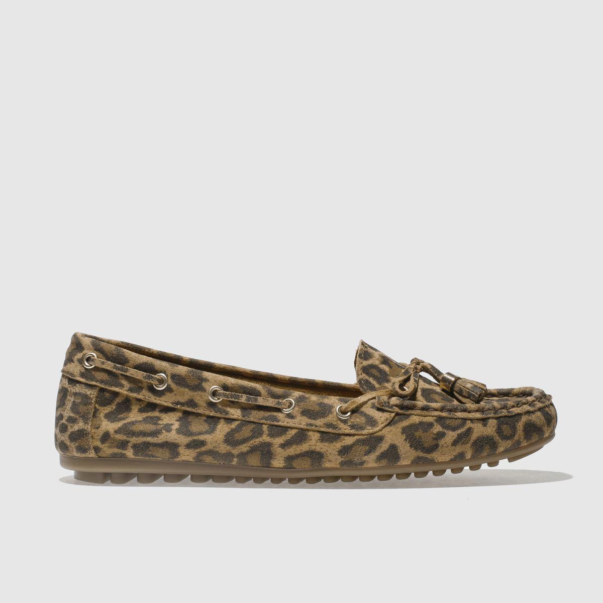 Schuh Beige & Brown Spin Around Flat Shoes
