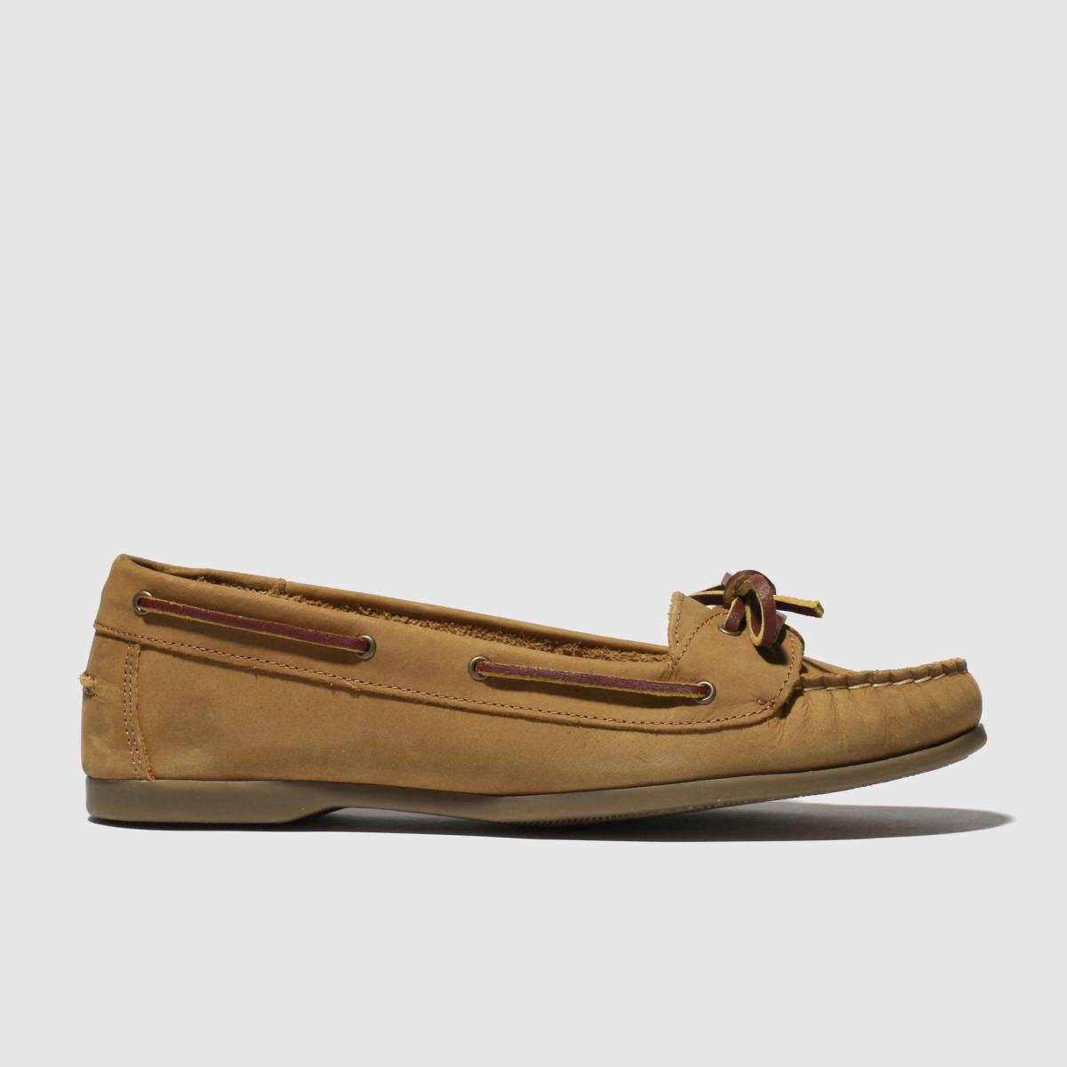 schuh Schuh Tan Twist Again Flat Shoes