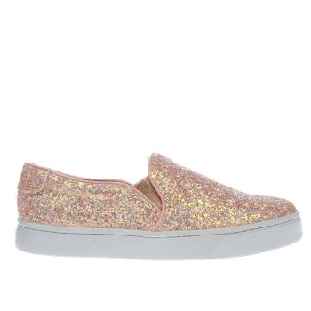 SCHUH PALE PINK DISCOTHEQUE FLAT SHOES