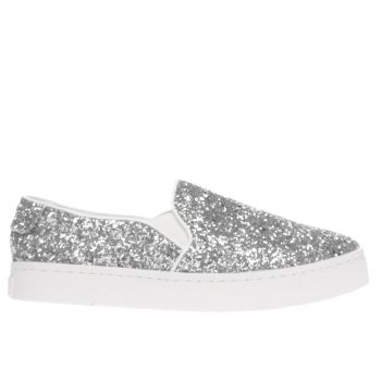 Schuh Silver Discotheque Womens Flats