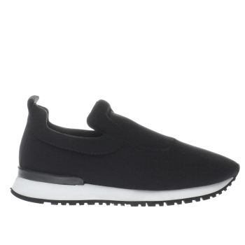 SCHUH BLACK & WHITE PLAYER FLAT SHOES
