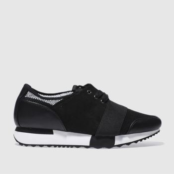 Schuh Black Blogger Womens Trainers