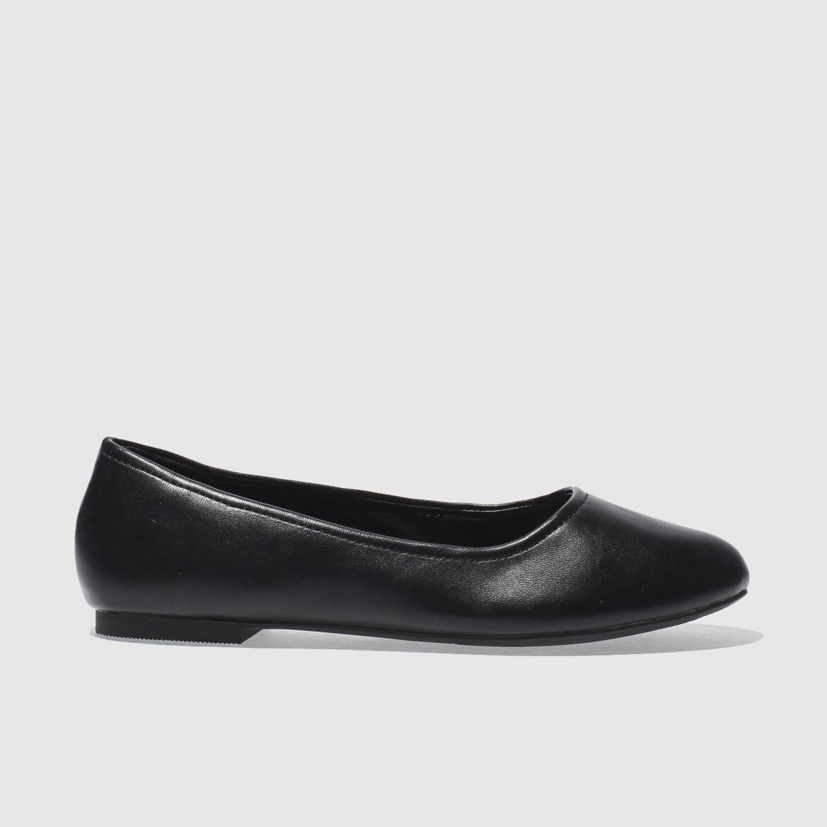 schuh black turn out flat shoes