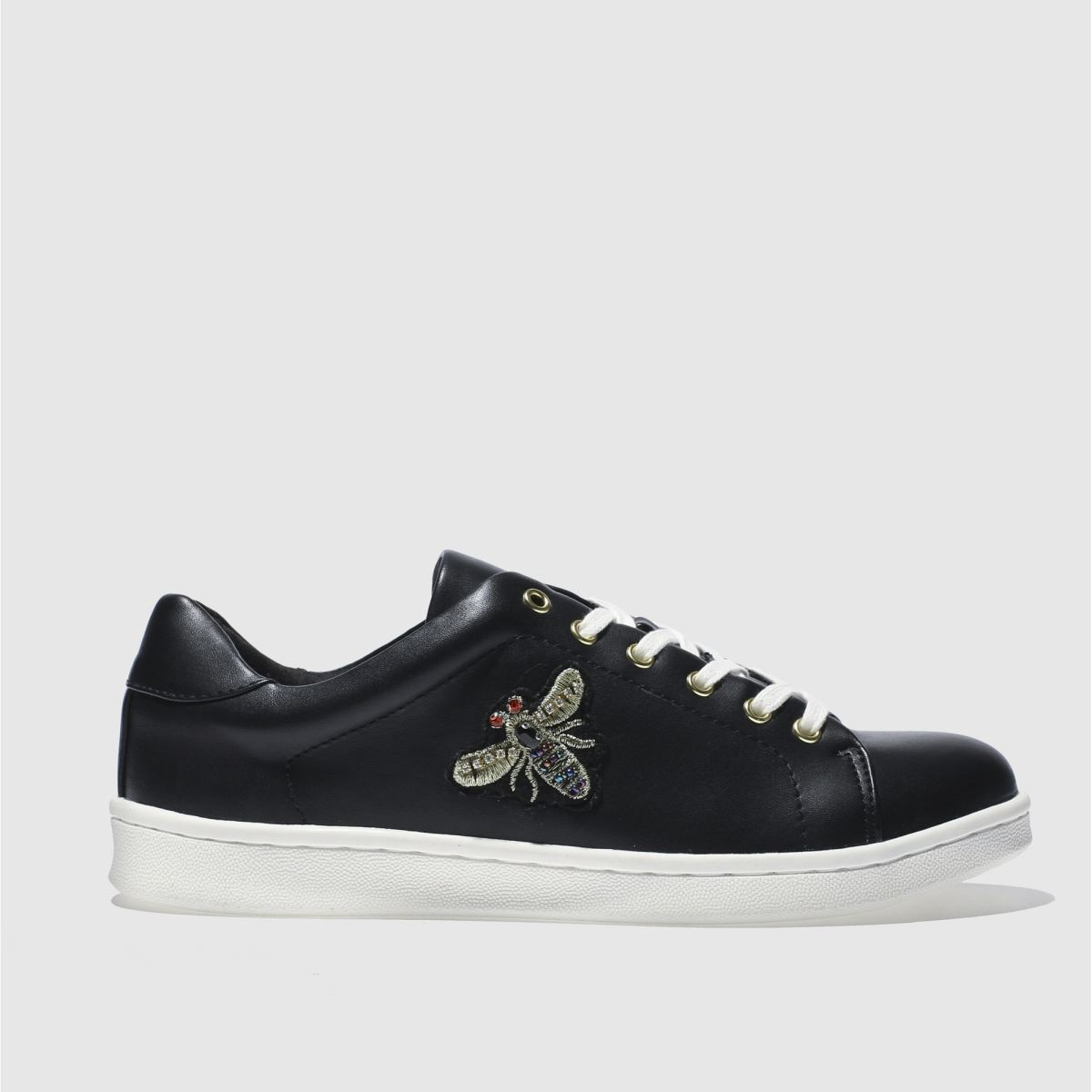 schuh Schuh Black Trapeze Bee Flat Shoes