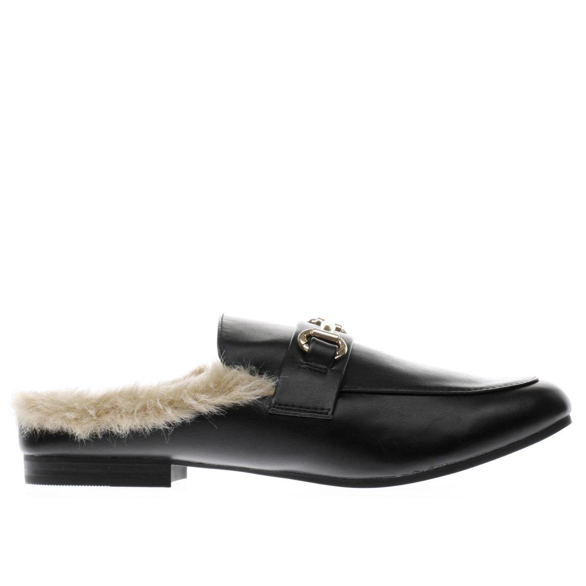 schuh black posh flat shoes