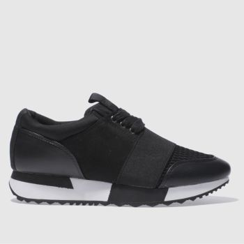Schuh Black Vlogger Womens Trainers