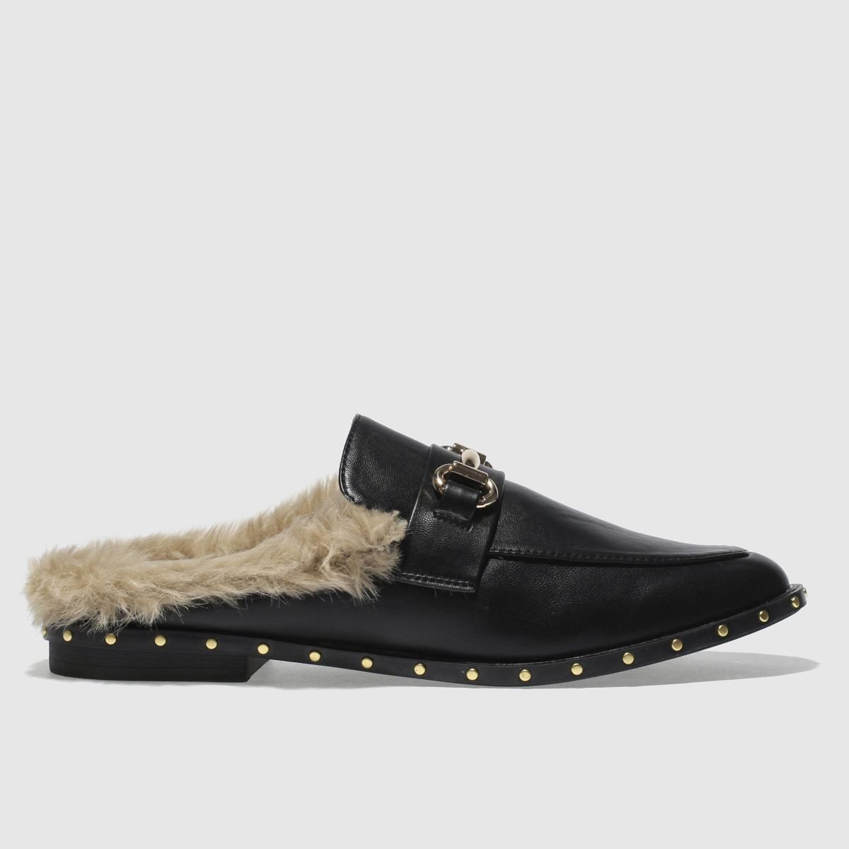 Schuh Black Swanky Flat Shoes