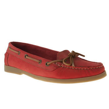 Womens Schuh Brown & Red Kirby Boat Shoe Flats