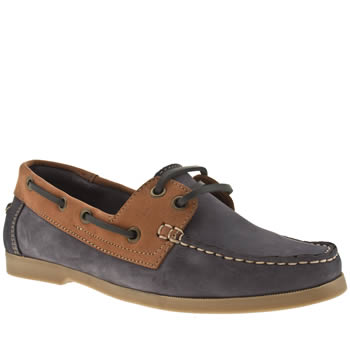 Womens Schuh Navy Kirby 2 Eye Boat Shoe Flats