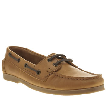 womens schuh tan kirby 2 eye boat flat shoes