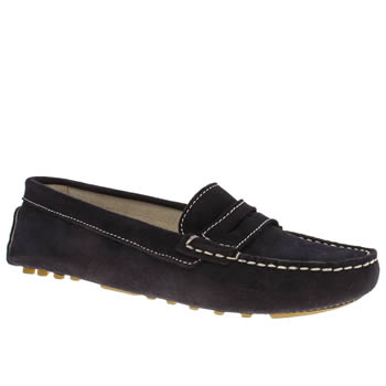 Womens Schuh Navy Realm Flats