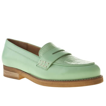womens schuh light green elementary flat shoes