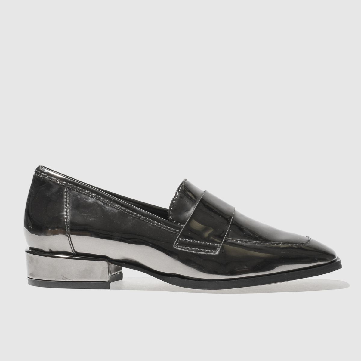 schuh Schuh Pewter Believe Flat Shoes