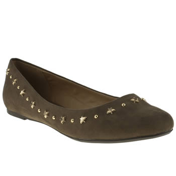 womens schuh beige starry night flat shoes