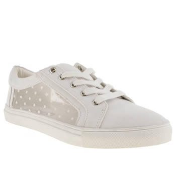 womens schuh white hang time flat shoes