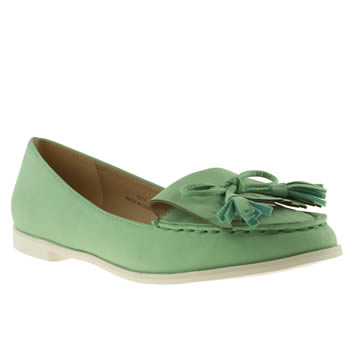 womens schuh green runaway flat shoes
