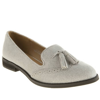 Womens Schuh Silver Glimmer Flats