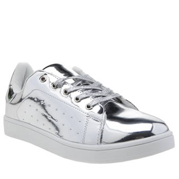 SCHUH SILVER MISS JACKSON TRAINERS